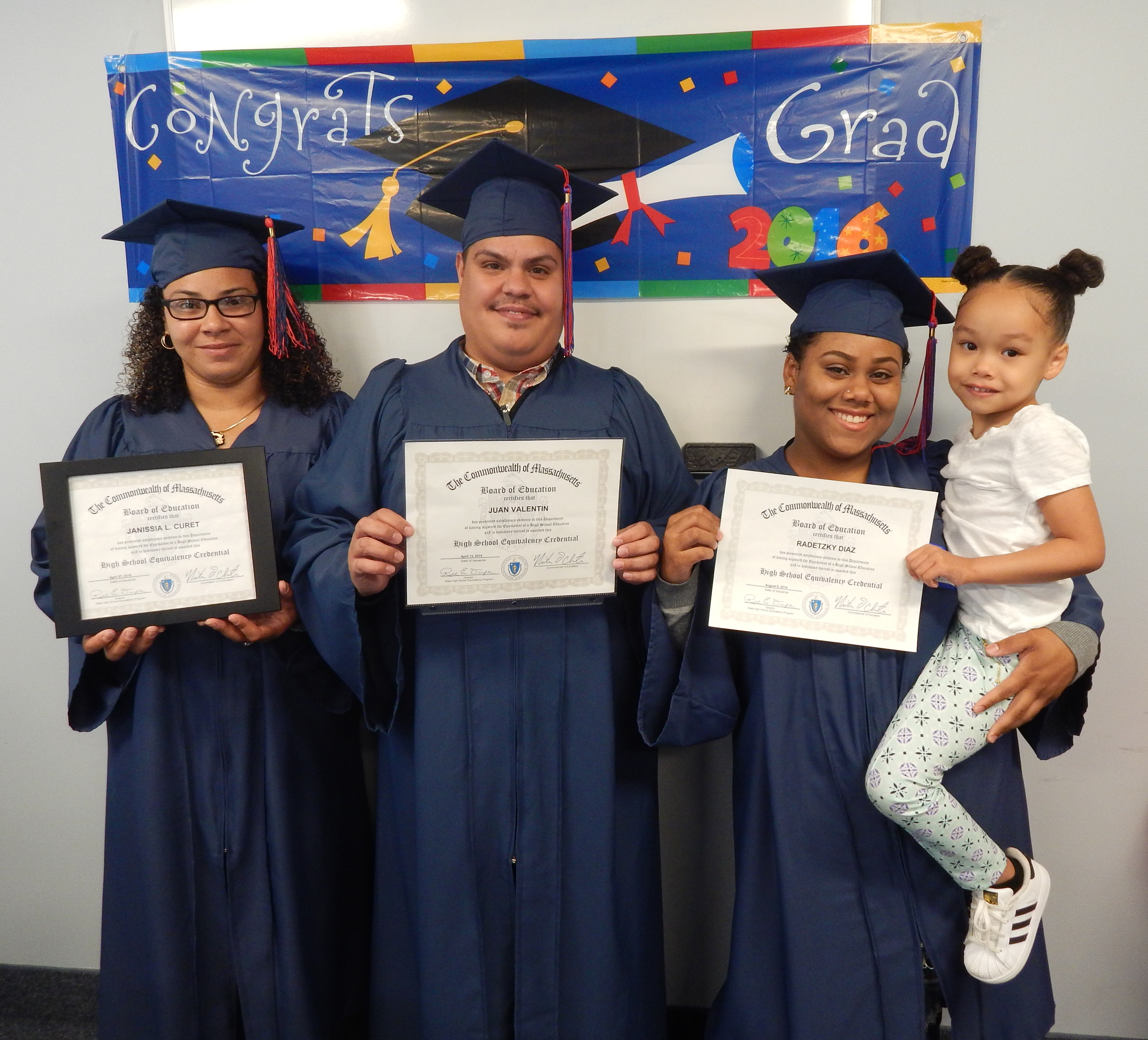 On Thursday evening, June 9, 2016, the TRA-Worcester Adult Basic Education  (ABE) Program honored five students who passed the Massachusetts High  School ...