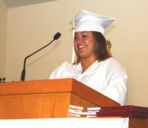 2013 QUINCY YOUTHBUILD GRADUATE MEAGHAN RIVERA RECIEVES A